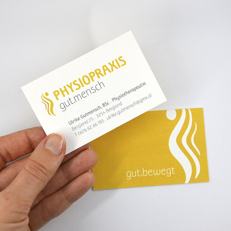 Physiopraxis Gutmensch Grafikdesign Katrin Scheichelbauer, hello! Designstudio