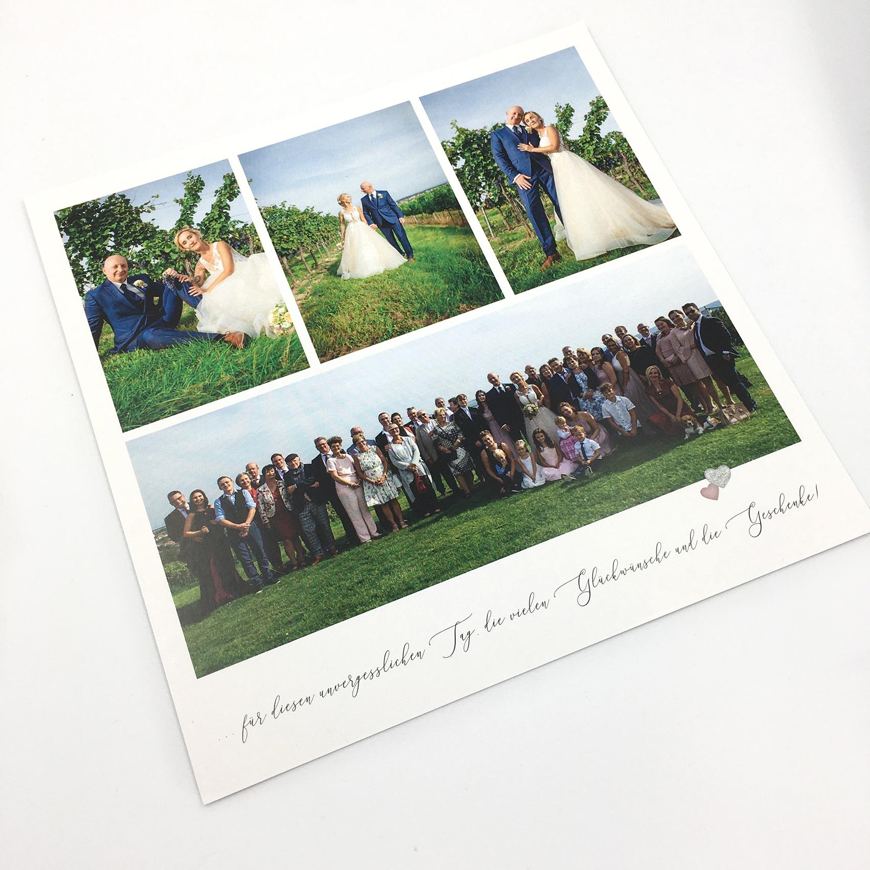 Dankeskarten, Design, Gestaltung, Niederösterreich, Hochzeitseinladung, Katrin Scheichelbauer, Natascha und Jürgen