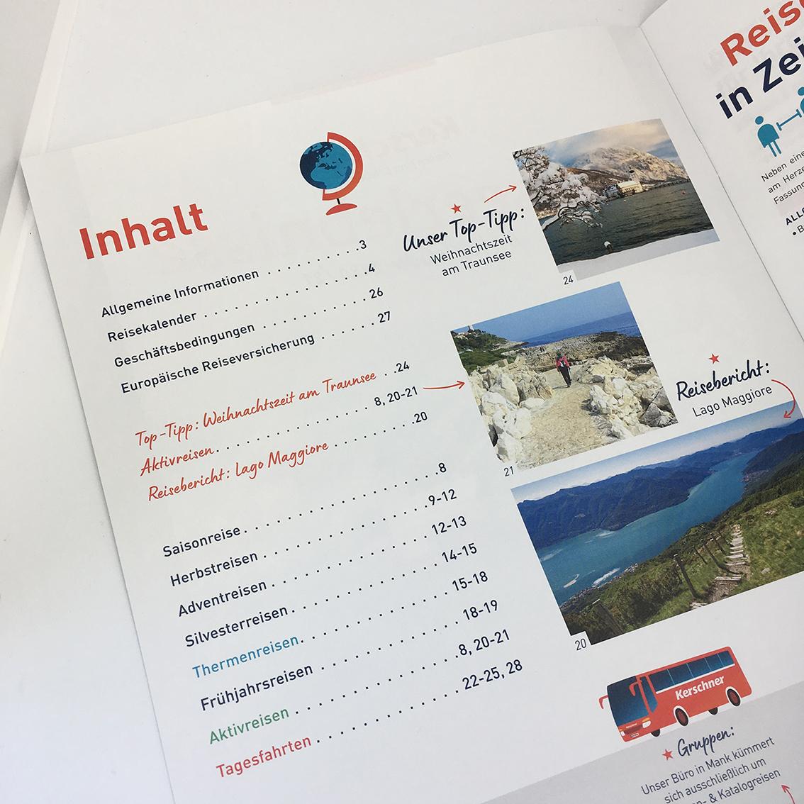 Kerschner Reisen, Winter Reisekatalog, Gestaltung, Katalogdesign, Kataloggestaltung, Layout, hello! Designstudio, Katrin Scheichelbauer