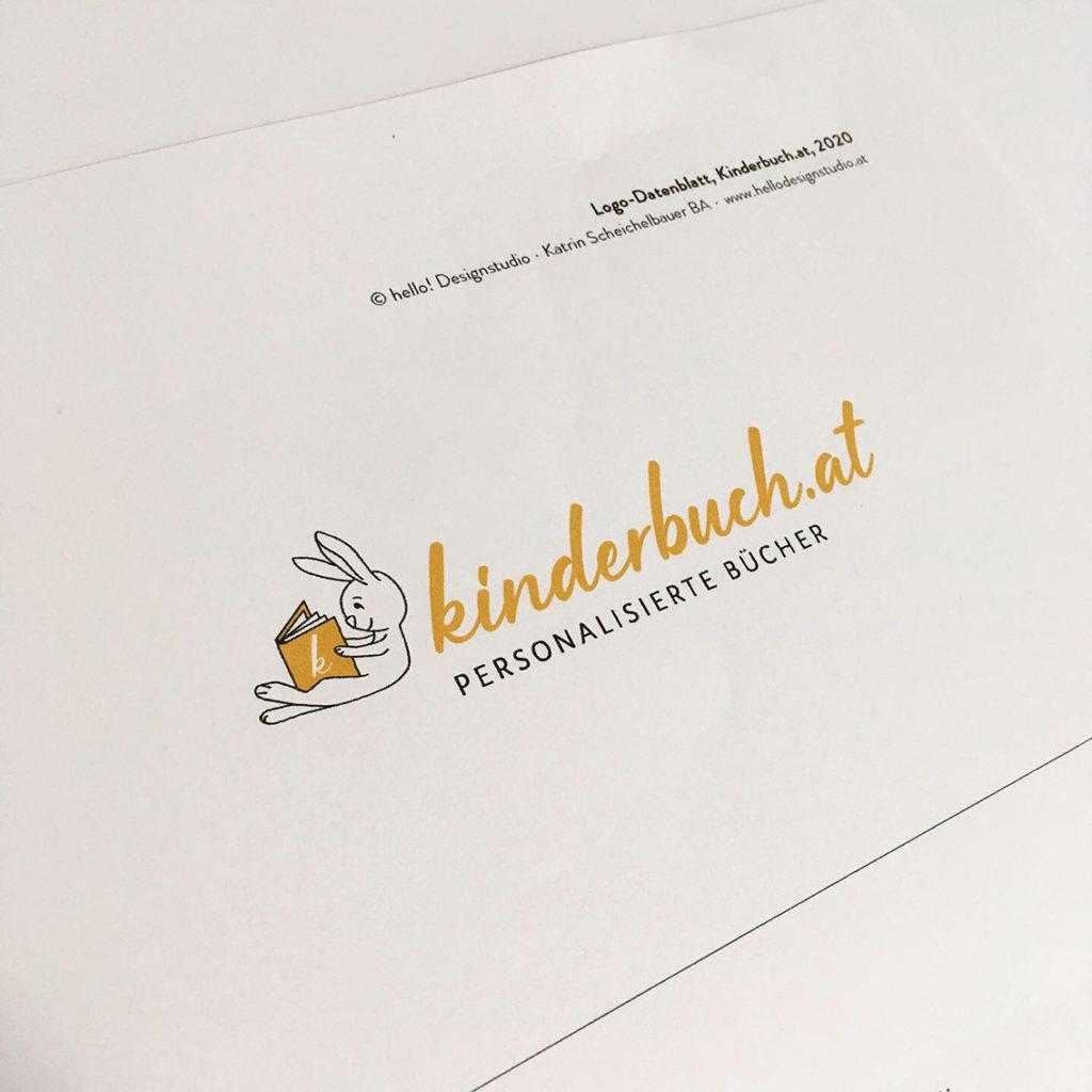 Kinderbuch.at, Logodesign, Logogestaltung, Logo, Grafikdesign, Kinderbuch, Kinderlogo, Buchlogo, hello! Designstudio, Katrin Scheichelbauer
